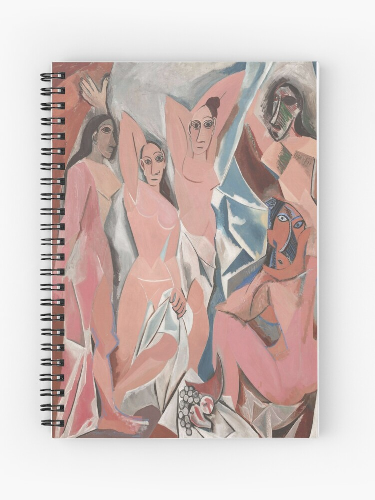 Les Demoiselles D Avignon The Young Ladies Of Avignon Pablo Picasso Spiral Notebook By Lexbauer Redbubble