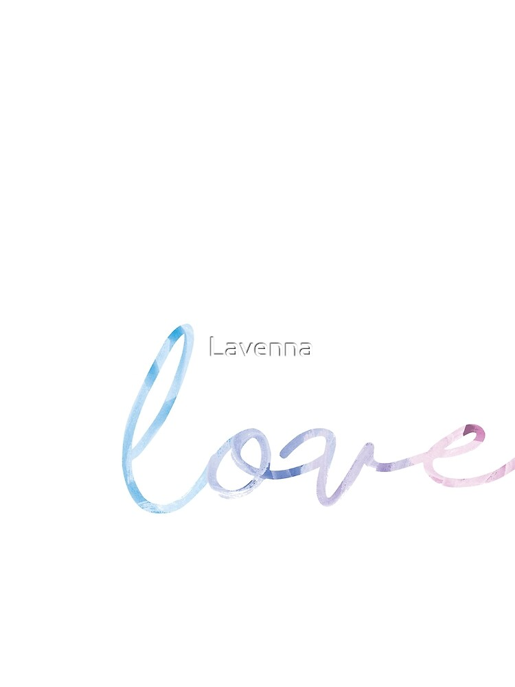 LOVE in watercolor by Lavenna