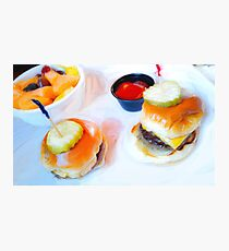 Chibi Burgers Photographic Print