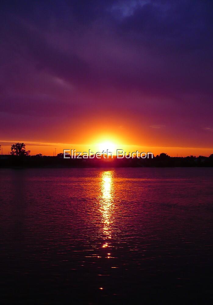 Fall Sunset  by Elizabeth Burton