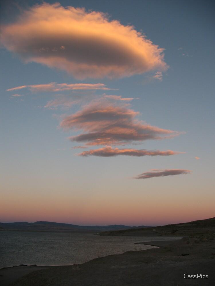 Pyramid Lake Sunset by CassPics