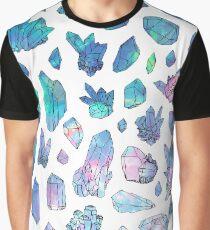 Rainbow Galaxy Crystals Graphic T-Shirt