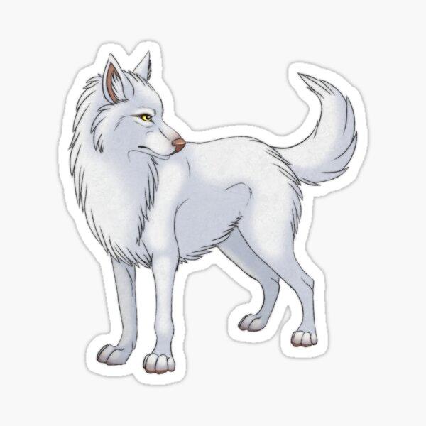 White Wolf Sticker