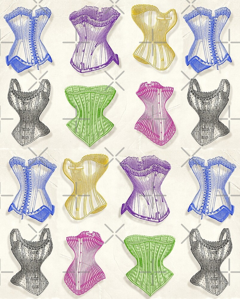 Vintage-inspired Silk Corsets by PrivateVices