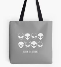 ALIEN EMOTIONS (white) Tote Bag
