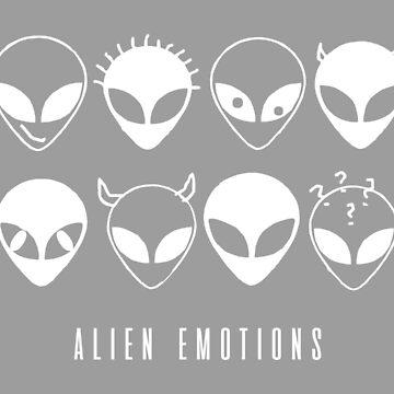 ALIEN EMOTIONS (white) by eileendiaries