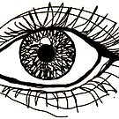 eye outline  by carlac