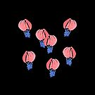 Air Balloons on Black by Elena Simonova