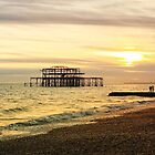 Brighton Beach Sunset by Ludwig Wagner