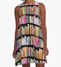 Bookworms Delight / Antique Book Library for Bibliophile A-Line Dress