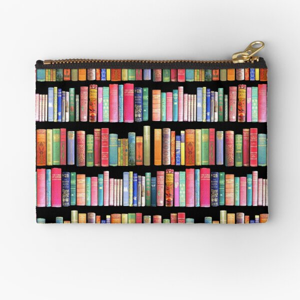 Bookworms Delight / Antique Book Library for Bibliophile Zipper Pouch