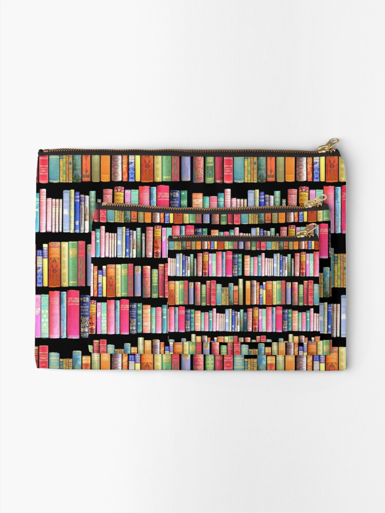 Alternate view of Bookworms Delight / Antique Book Library for Bibliophile Zipper Pouch