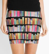 Bookworms Delight / Antique Book Library for Bibliophile Mini Skirt