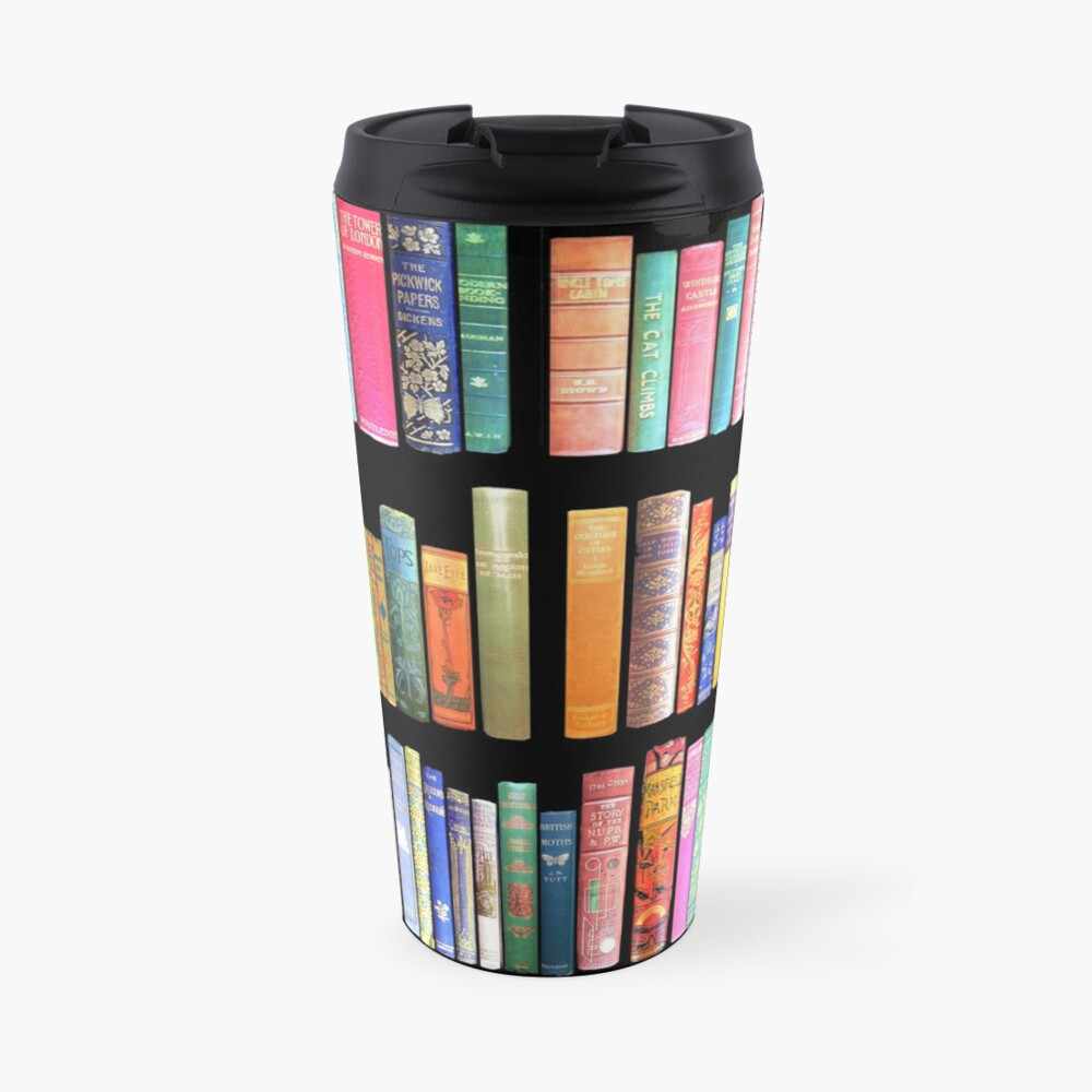 Bookworms Delight / Antique Book Library for Bibliophile Travel Mug
