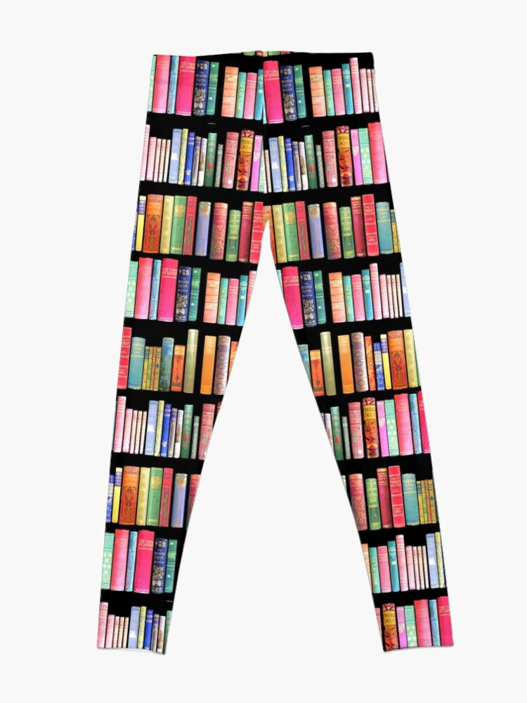 Alternate view of Bookworms Delight / Antique Book Library for Bibliophile Leggings