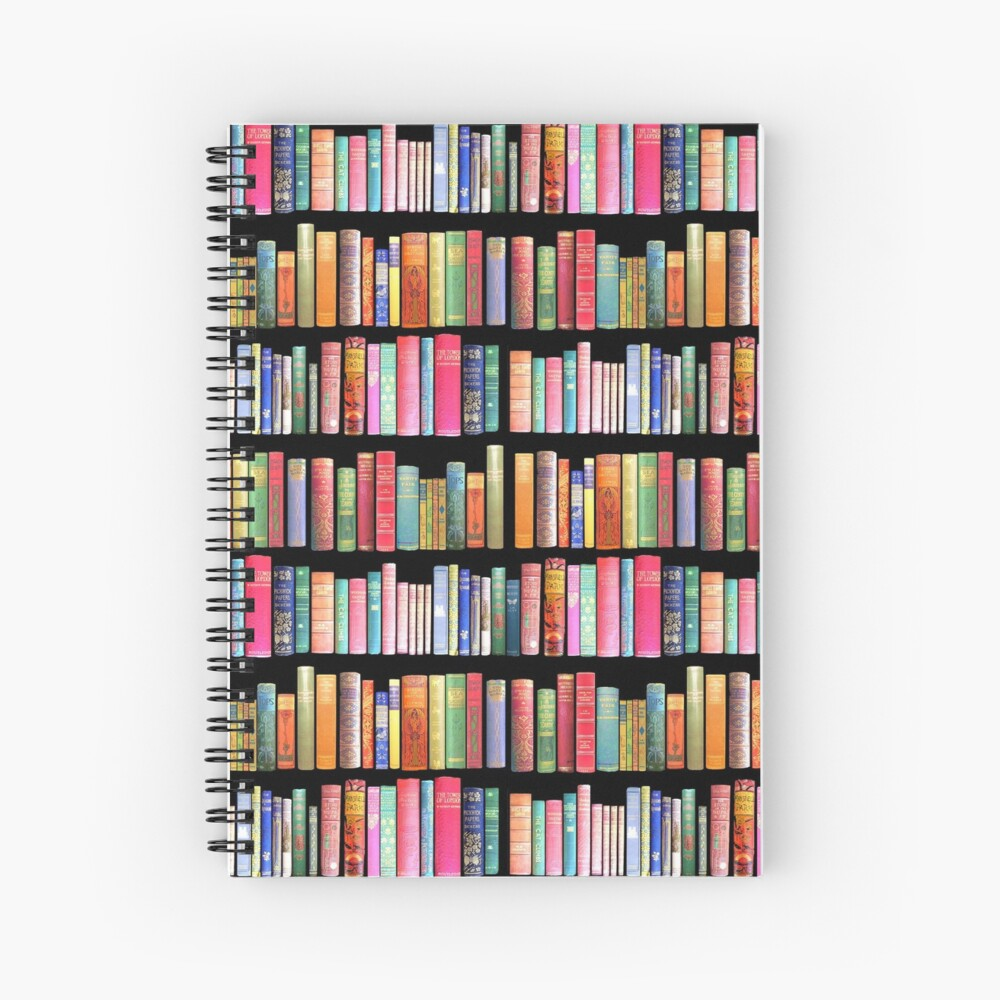 Bookworms Delight / Antique Book Library for Bibliophile Spiral Notebook