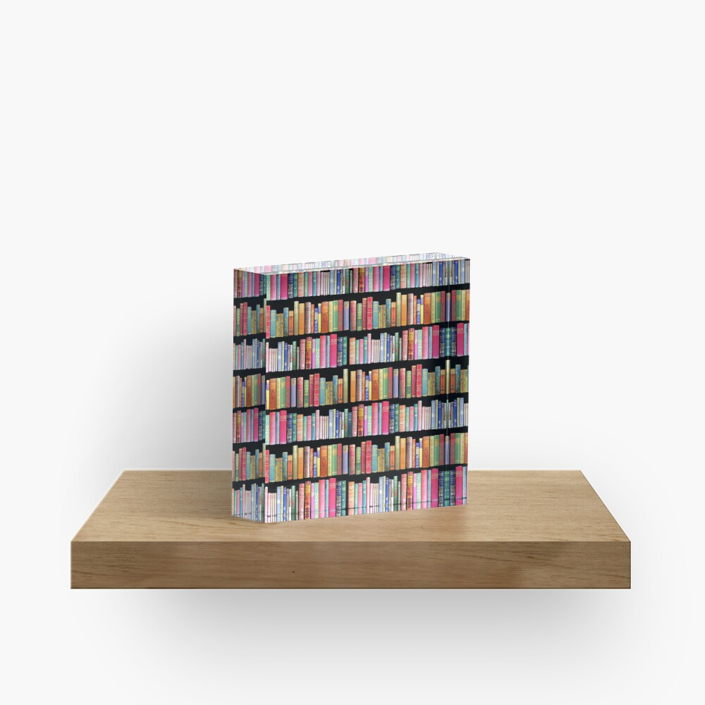 Bookworms Delight / Antique Book Library for Bibliophile Acrylic Block