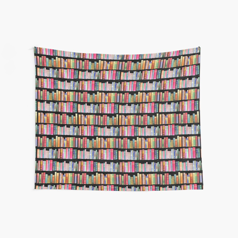 Bookworms Delight / Antique Book Library for Bibliophile Wall Tapestry