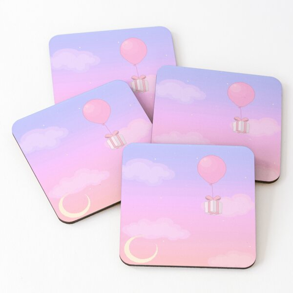 Animal Crossing Sunset Coasters (Set of 4)