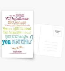 You Matter Manifesto Greeting Cards & Postcards Postcards