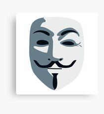 Anonymous Mask #redbubble #decor #buyart #artprint Canvas Print