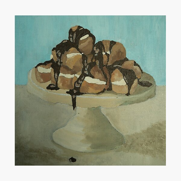 Chocolate Profiteroles Photographic Print