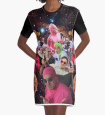 Schmutziger Frank T-Shirt Kleid
