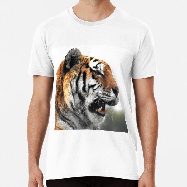 Amur Tiger on White Premium T-Shirt