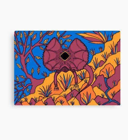 Goolaman - (frilled lizard) barrgan season (winter) Canvas Print