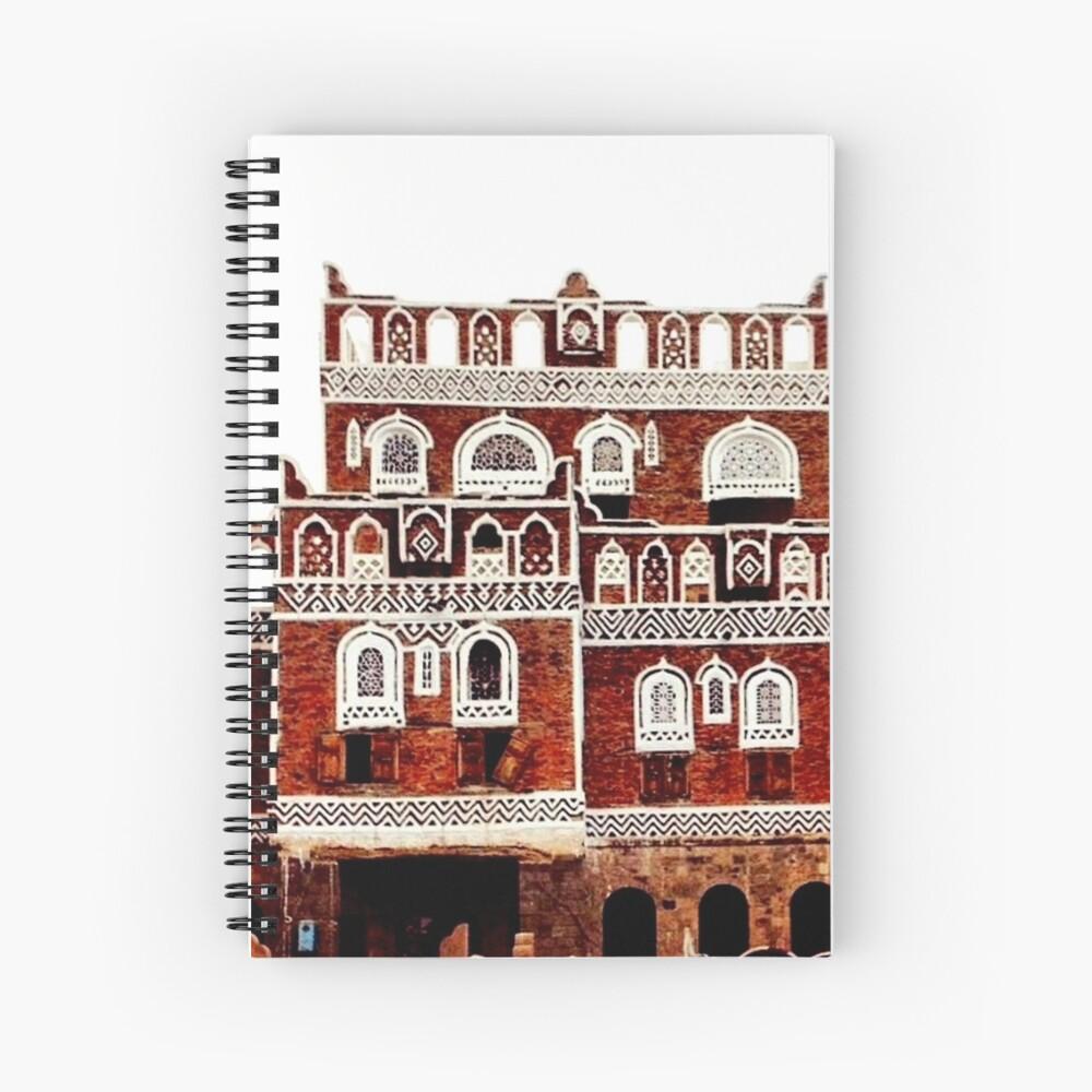 Arab Architecture Yemen Spiral Notebook