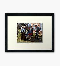 Civil War Re Enactors Framed Print