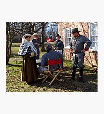 Civil War Re Enactors Photographic Print