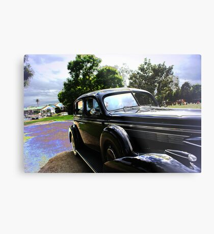 Clear blue afternoon; nice time to get out show off The 1939, sun shine & dressed in zoot suit of the time!; La Mirada, CA USA Metal Print