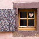 Tiny Window with Heart Decoration by Yair Karelic