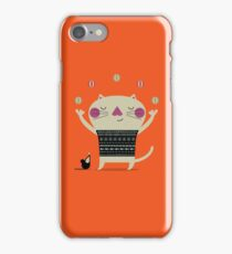 Cute Cat Juggling iPhone Case/Skin