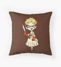 ITS A CLUE! Was it Mrs. Peacock with the KNIFE? Throw Pillow