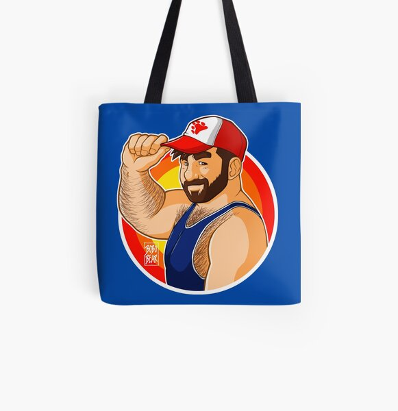 ADAM LIKES BASEBALL CAPS - TARGET All Over Print Tote Bag