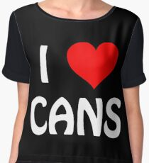 I Love Cans Women's Chiffon Top