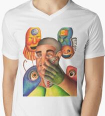Controlled Chaos  Men's V-Neck T-Shirt