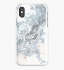 MARBLE DEEP BLUE GOLD WHITE iPhone Case/Skin
