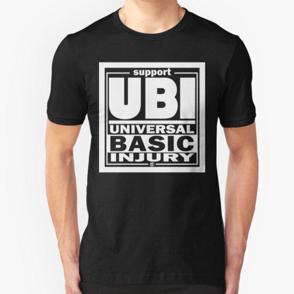 Injury | UBI White Slim Fit T-Shirt