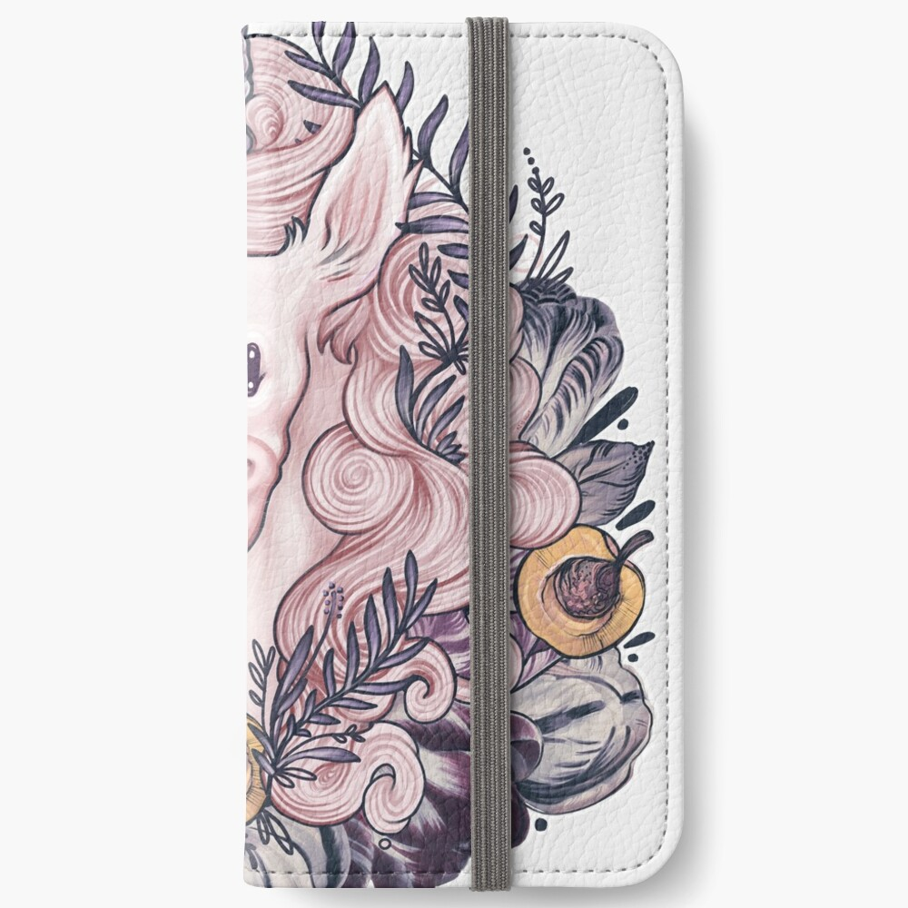 A Majestic Apricot Unicorn iPhone Wallet