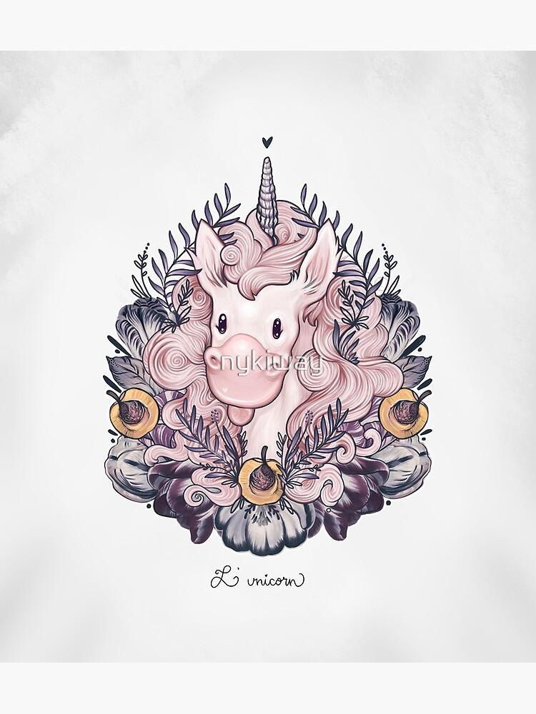 A Majestic Apricot Unicorn by nykiway