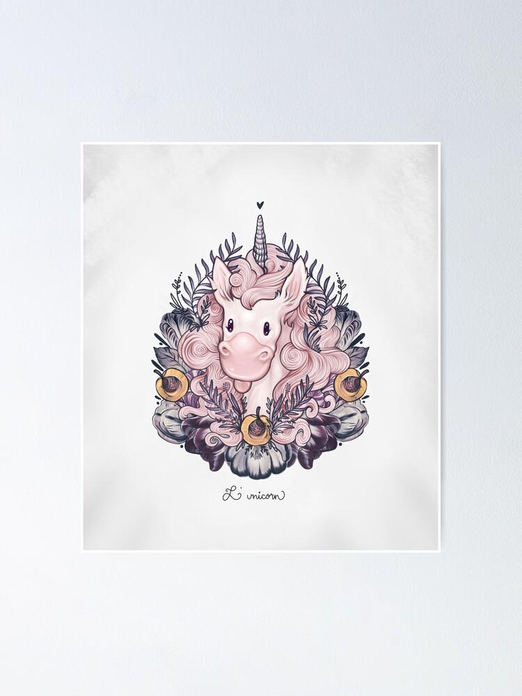 Alternate view of A Majestic Apricot Unicorn Poster