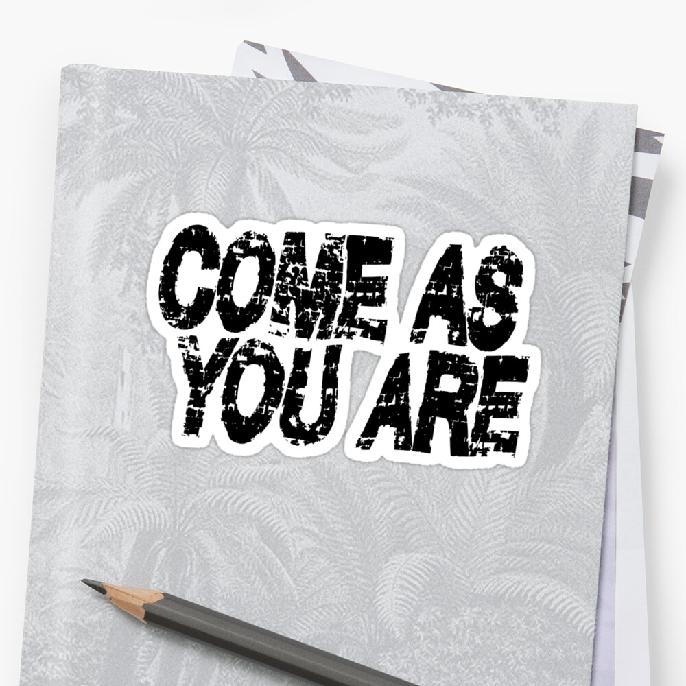 Nirvana - Come As You Are Sticker