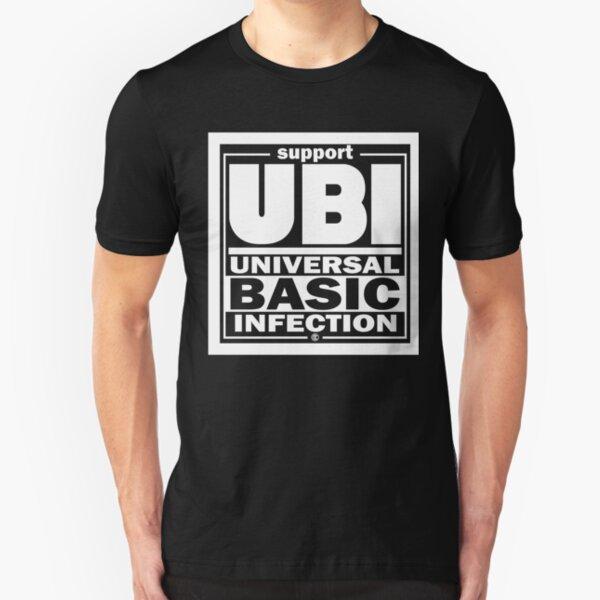Infection | UBI White Slim Fit T-Shirt