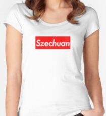 Szechuan Sauce (Rick & Morty Supreme Parody) Women's Fitted Scoop T-Shirt
