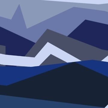 Blue Abstract Mountains by 53JSams