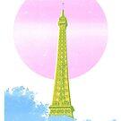 Eiffel Tower Screen Print by iamsla