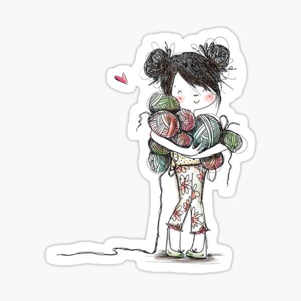 Yarn Girl Sticker